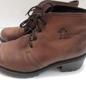 Havana Joe Brown Leather Lace up Boots Size 7